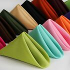Внешний вид - 50/PK 17x17 inch Polyester Napkins  ~NEW~ Wedding Holiday Party 15+ Colors