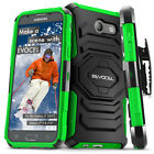 Galaxy J7 2017 / J7 V Case | Dual Layer Holster Case with Kickstand & Belt Clip