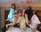 USA  BRIDAL PARTY Women's SILK Kimono Robes Bathrobe BRIDE, BRIDESMAID S-XXL