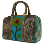 New L'Artiste Women's Leather Croc Embossed Weekender Bag Handbag HB-SUNNIE-TQM