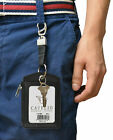 Cavelio Genuine Leather Badge/ID Holder Credit Card Holder with Loop Selections