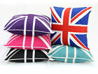 "British Union Jack Cotton Cushion Covers/Case,Sofa Cases Couch Pillow 18""x18"""