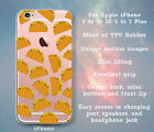 Taco Pattern Mexican Fun Clear Case Cover Skin for iPhone 5 5s 5c SE 6 6s 7 Plus