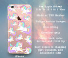 Unicorns Pattern Cute Clear Case Cover Skin for iPhone 5 5s 5c SE 6 6s 7 Plus