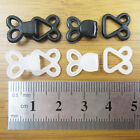 5 BLACK or WHITE PLASTIC HOOK AND EYE FASTENERS DRESS BRA SKIRT SEW ON EXTENDERS