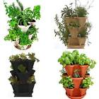 STACKABLE HANGING GARDEN PLANTER-FLOWER POT-INDOOR/OUTDOOR SELF WATERING-4 COLOR