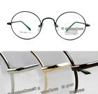 Men Women Eyeglass frame optical metal vintage geek round spring hinges 5 colors