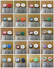 ROUND COLOURFUL ACRYLIC BUTTONS *26 STYLES* HABERDASHERY SEW ON SEWING CHILDREN