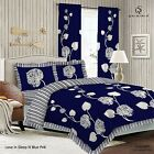 Duvet Cover with Pillow Case Quilt Cover Bedding Set Frilled Edge - SLEEP BLUE