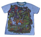 Mens Weed T Shirt Mushrooms Boho Colourful Dope Trippy Hippy Rare Cotton M