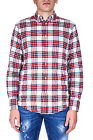 Dsquared Shirt % Tartan MADE IN ITALY Man Reds S74DL0999S47276002F-WHITE