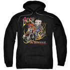 Betty Boop ON WHEELS Motorcyle Biker Betty Licensed Sweatshirt Hoodie $41.71 USD