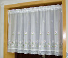 Daisy flower great Embroidered Home decorate Kitchen Lace Sheer Cafe Curtain
