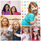 DIY Mask Photo Booth Props Baby Shower New Born Boy Girl Party Photography Kit
