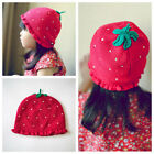 Knitted Hat Strawberry Cap for Girl Kids Infant Baby Child Winter Age 0-6 Years