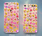 Pink Girly Cute Fun Emojis Case for iPhone 7 7 Plus 6s 6 SE 5s 5 5c iPod 6th 5th