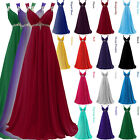 Long Chiffon Empire Formal Gown Strap Evening Prom Bridesmaid Party Dresses