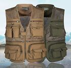 OUTDOOR SUMMER TRAVEL PHOTOGRAPHY FISHING MESH VEST POCKET VEST-273