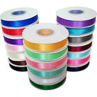 50M X 6MM Satin Ribbon Reel Double Faced Sided Reel Satin Fabric Wedding Party