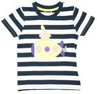 Boys T-Shirt Top Submarine Applique Tee Navy Stripe Toddler 6 Months to 3 Years