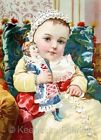 Victorian Baby Lacey Cap & Doll Applique Multi Sizes