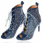 By Alina High Heels Peeptoes Stiefeletten Pumps Ankle Boots Jeans 36-39 #V55