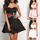 New Summer Women's off-shoulder strapless Dress Embroidered Party Cocktail Dress
