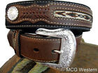 Nocona Western Mens Belt Top Hand Southwest Laced Concho Black Brown  N2475701