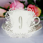 Laser Cut Hollow Table Numbers Card Wedding Name Place Cards Party Supplies New