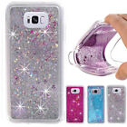 FOR Samsung S8 S8 Plus Shockproof Case Bling Liquid Glitter Clear Soft Cover