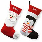 Personalised Luxury Embroidered Xmas Stocking Sack 3D Santa Deluxe Christmas