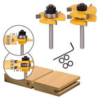 """2pcs Tongue & Groove Router Bits Set 3 4"""" Stock 1 4"""" Shank + 1 wrench Tool Kits"""