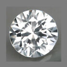2.0Cts PLEASANT Hi-End Sparkling Natural Diamond WHITE ZIRCON Gem 7.Mm Rd WX001