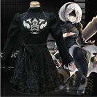 NieR Automata 2B Game Black Dress Anime Cosplay Costume +Free Track