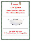 """150ct Round Bird Cage Liners Round Coated Cut to Order from 12"""" to 18"""""""