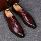 Hot Mens Pointed Toe Prom Lace Up Business Oxfords Dress formal Wedding Shoes