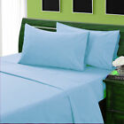 1200TC Egyptian Cotton Extra Deep PKT Bedding Items Full Size Sky Blue Solid