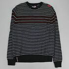 Quiksilver Knitted Striped Sweater/Jumper Black UK size S.