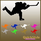 "Hockeyplayer ""Slapshot""- Car Decal / Silhouette / Sticker / Glossy colors"