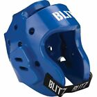 Blitz Sports Karate Dipped Foam Hood Head Guard - Blue