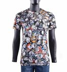 MOSCHINO COUTURE RUNWAY Cotton T-Shirt with Soda Can Print Gray Grey 05426