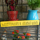 Butterfly Kisses & Dandelion Wishes Wooden Shelf Sitter - 21 Color Choices!