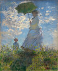 Classic French Impressionist Masterpiece: Woman with Parasol by Monet