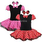 Baby Girls Minnie Mouse Dress Toddler Kids Tutu Tulle Skirt Party Costume Outfit