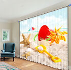Toys and sea shells in the sand 3d digital Blackout curtains
