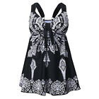 Womens Black Swimsuit Retro Paisley Pin Up Tankini Swimwear Swimdress Plus Size