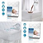 WATERPROOF EXTRA DEEP 30CM/12' DEEP QUILTED/FITTED BED COVER/ MATTRESS PROTECTOR