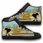 JOHNNY BRAVO Like Elvis Funny Cartoon Top Action Leather Shoes