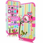 For Apple Ipod Touch 5 6th Generation Hybrid Protective Silicon Hard Cover Case