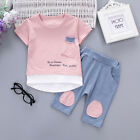 2PC Baby Boys Clothes Outfit Infant Kids Shirt Tops+Pants Clothing Autumn/Summer